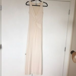 Halston Heritage ivory Jersey Gown